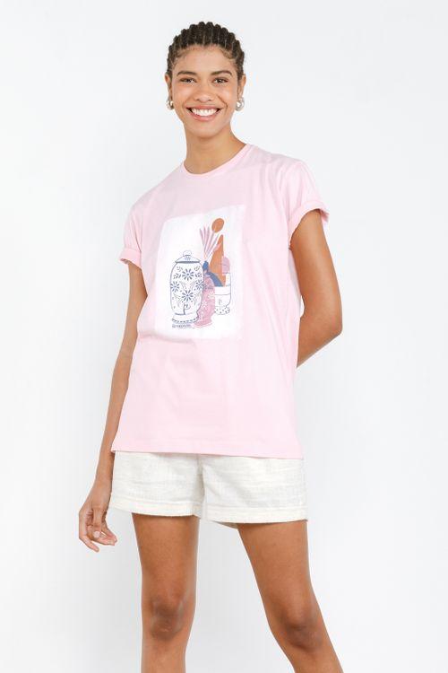 Camisa Básica Feminina Jarras