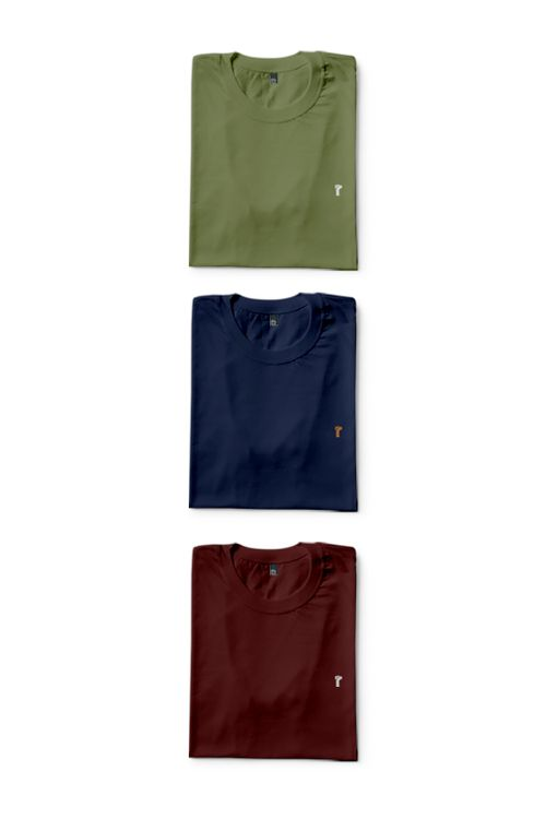 Kit 3 Camisas Básicas Neutral